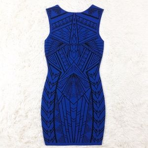 Forever 21 Dresses - Forever 21 blue Aztec bodycon dress size small